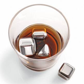 n'ICE Cubes Stainless Steel Drink Chillers - Set of 6